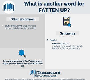 fatten up, synonym fatten up, another word for fatten up, words like fatten up, thesaurus fatten up