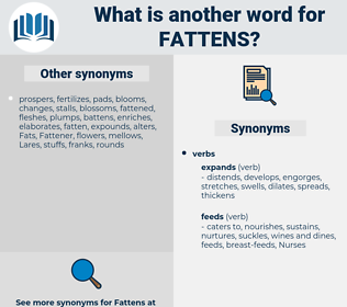 fattens, synonym fattens, another word for fattens, words like fattens, thesaurus fattens