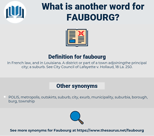 faubourg, synonym faubourg, another word for faubourg, words like faubourg, thesaurus faubourg
