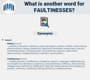 faultinesses, synonym faultinesses, another word for faultinesses, words like faultinesses, thesaurus faultinesses