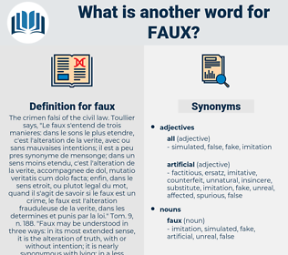 faux, synonym faux, another word for faux, words like faux, thesaurus faux