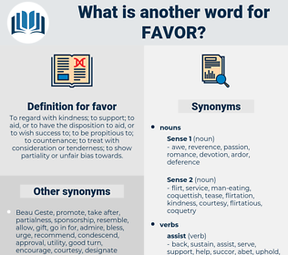 favor, synonym favor, another word for favor, words like favor, thesaurus favor