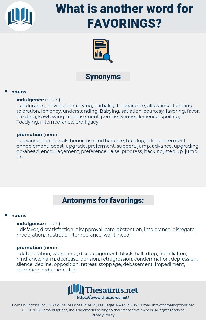 favorings, synonym favorings, another word for favorings, words like favorings, thesaurus favorings