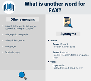 fax, synonym fax, another word for fax, words like fax, thesaurus fax