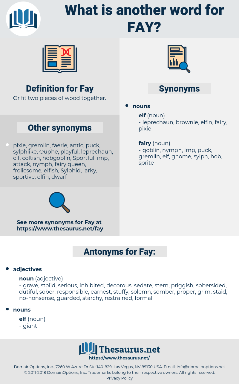 Fay, synonym Fay, another word for Fay, words like Fay, thesaurus Fay