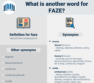 faze, synonym faze, another word for faze, words like faze, thesaurus faze