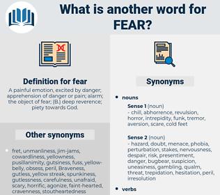 fear, synonym fear, another word for fear, words like fear, thesaurus fear