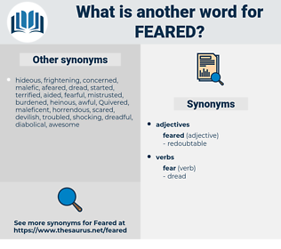 Feared, synonym Feared, another word for Feared, words like Feared, thesaurus Feared