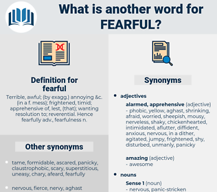 fearful, synonym fearful, another word for fearful, words like fearful, thesaurus fearful