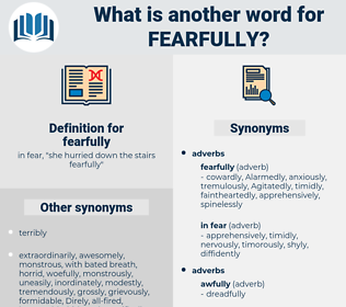 fearfully, synonym fearfully, another word for fearfully, words like fearfully, thesaurus fearfully