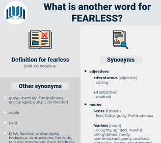 fearless, synonym fearless, another word for fearless, words like fearless, thesaurus fearless