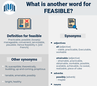 feasible, synonym feasible, another word for feasible, words like feasible, thesaurus feasible