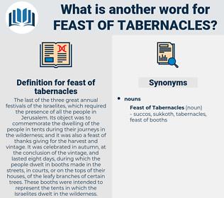 feast of tabernacles, synonym feast of tabernacles, another word for feast of tabernacles, words like feast of tabernacles, thesaurus feast of tabernacles