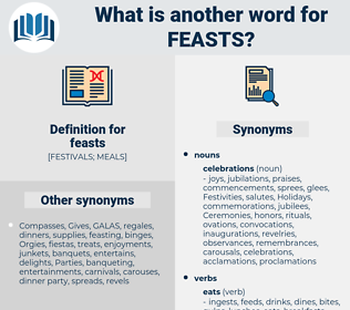 feasts, synonym feasts, another word for feasts, words like feasts, thesaurus feasts