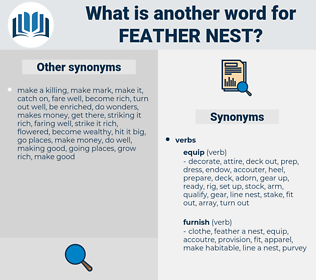 feather nest, synonym feather nest, another word for feather nest, words like feather nest, thesaurus feather nest