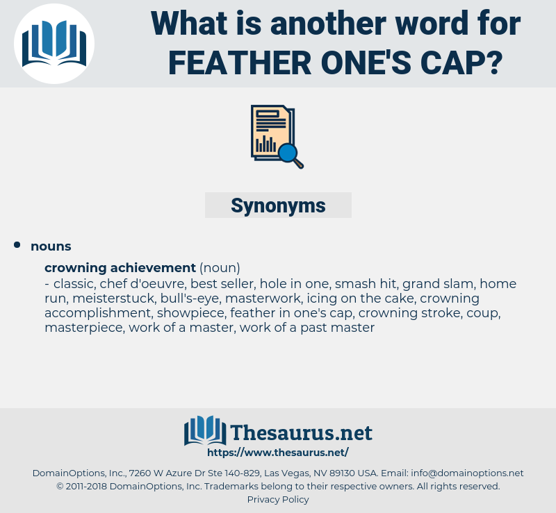 feather one's cap, synonym feather one's cap, another word for feather one's cap, words like feather one's cap, thesaurus feather one's cap