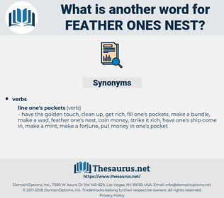 feather ones nest, synonym feather ones nest, another word for feather ones nest, words like feather ones nest, thesaurus feather ones nest
