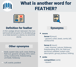 feather, synonym feather, another word for feather, words like feather, thesaurus feather