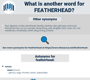 featherhead, synonym featherhead, another word for featherhead, words like featherhead, thesaurus featherhead