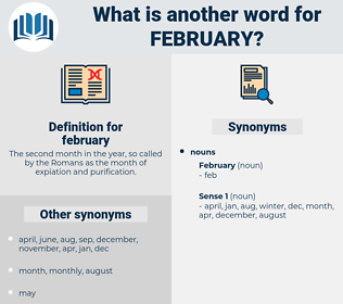 february, synonym february, another word for february, words like february, thesaurus february