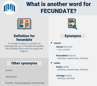 fecundate, synonym fecundate, another word for fecundate, words like fecundate, thesaurus fecundate
