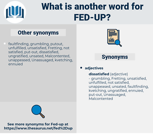 fed up, synonym fed up, another word for fed up, words like fed up, thesaurus fed up