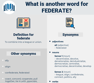 federate, synonym federate, another word for federate, words like federate, thesaurus federate