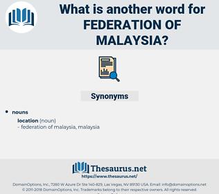 federation of malaysia, synonym federation of malaysia, another word for federation of malaysia, words like federation of malaysia, thesaurus federation of malaysia