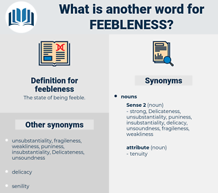 feebleness, synonym feebleness, another word for feebleness, words like feebleness, thesaurus feebleness