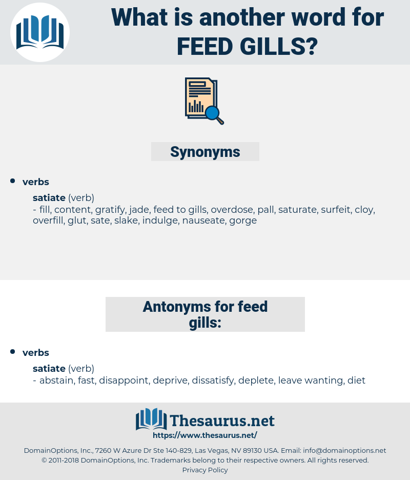 feed gills, synonym feed gills, another word for feed gills, words like feed gills, thesaurus feed gills