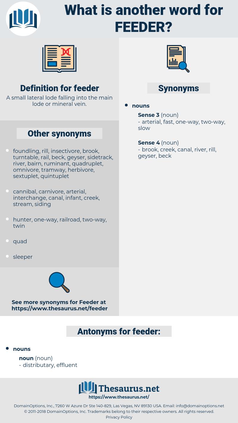 feeder, synonym feeder, another word for feeder, words like feeder, thesaurus feeder