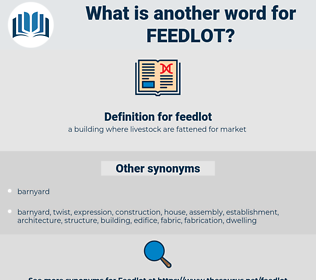 feedlot, synonym feedlot, another word for feedlot, words like feedlot, thesaurus feedlot
