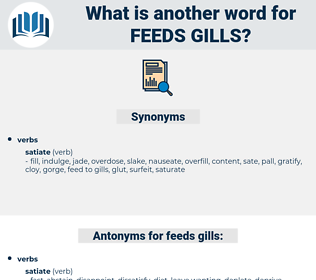 feeds gills, synonym feeds gills, another word for feeds gills, words like feeds gills, thesaurus feeds gills