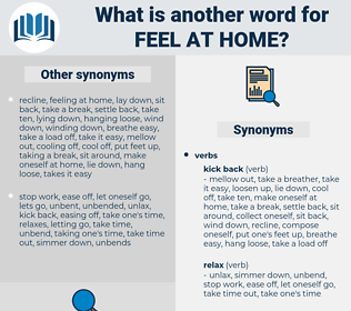 feel at home, synonym feel at home, another word for feel at home, words like feel at home, thesaurus feel at home