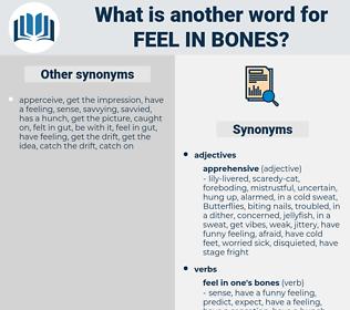 feel in bones, synonym feel in bones, another word for feel in bones, words like feel in bones, thesaurus feel in bones