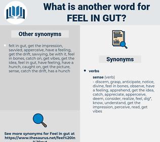 feel in gut, synonym feel in gut, another word for feel in gut, words like feel in gut, thesaurus feel in gut