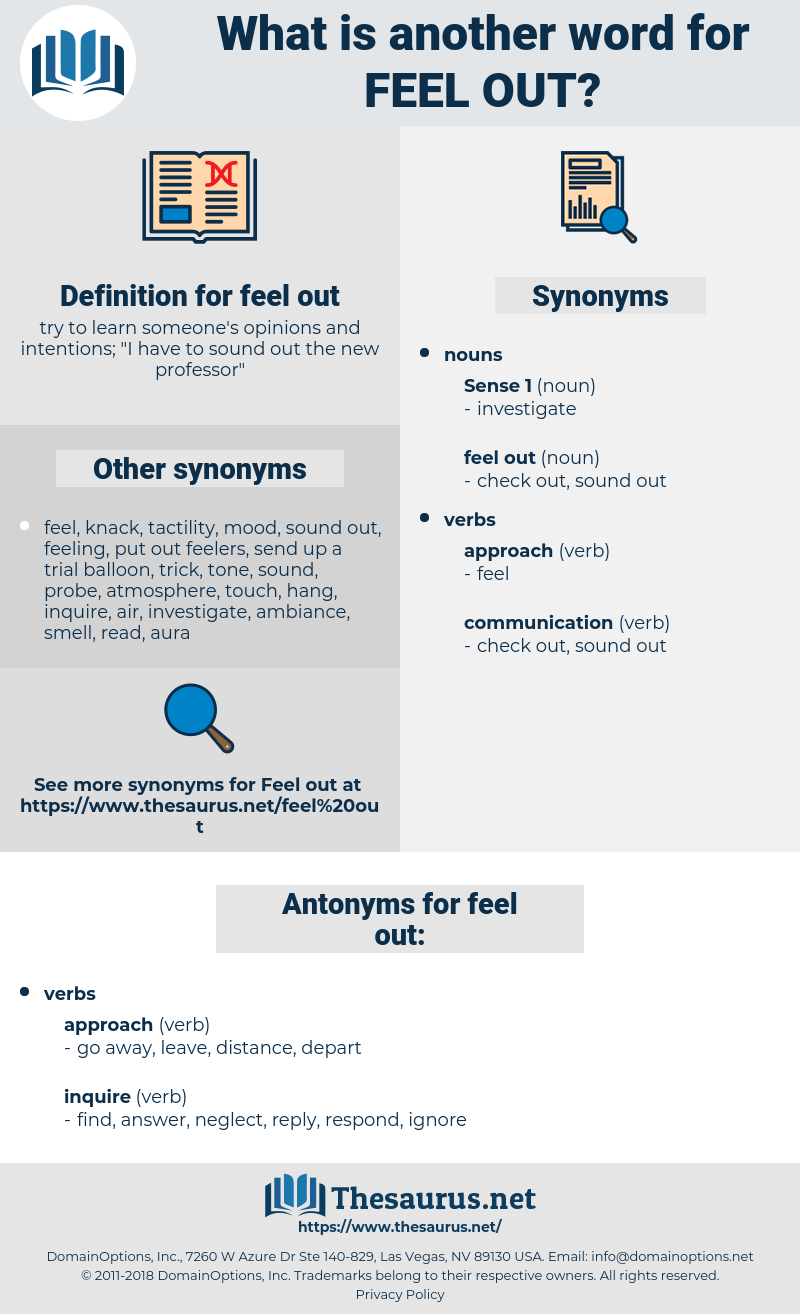 feel out, synonym feel out, another word for feel out, words like feel out, thesaurus feel out