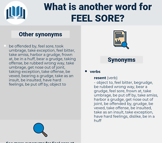 feel sore, synonym feel sore, another word for feel sore, words like feel sore, thesaurus feel sore