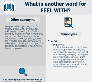 feel with, synonym feel with, another word for feel with, words like feel with, thesaurus feel with