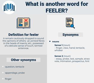 feeler, synonym feeler, another word for feeler, words like feeler, thesaurus feeler