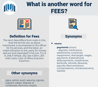 Fees, synonym Fees, another word for Fees, words like Fees, thesaurus Fees