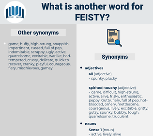 feisty, synonym feisty, another word for feisty, words like feisty, thesaurus feisty