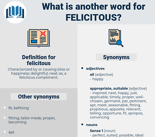 felicitous, synonym felicitous, another word for felicitous, words like felicitous, thesaurus felicitous