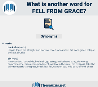 fell from grace, synonym fell from grace, another word for fell from grace, words like fell from grace, thesaurus fell from grace