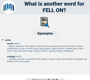 fell on, synonym fell on, another word for fell on, words like fell on, thesaurus fell on