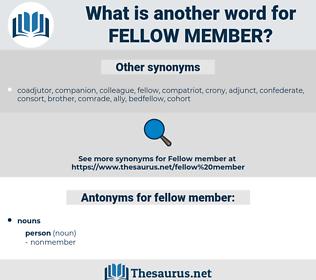 fellow member, synonym fellow member, another word for fellow member, words like fellow member, thesaurus fellow member