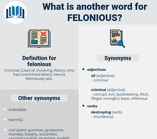 felonious, synonym felonious, another word for felonious, words like felonious, thesaurus felonious