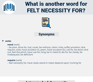 felt necessity for, synonym felt necessity for, another word for felt necessity for, words like felt necessity for, thesaurus felt necessity for