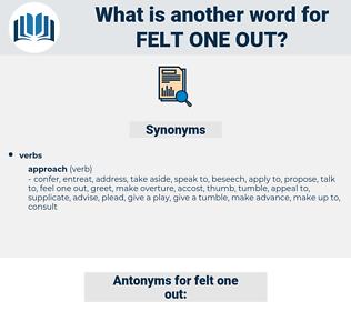 felt one out, synonym felt one out, another word for felt one out, words like felt one out, thesaurus felt one out