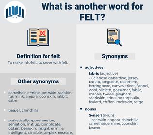 felt, synonym felt, another word for felt, words like felt, thesaurus felt
